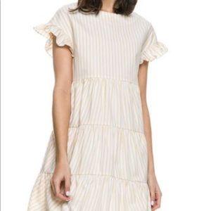 NWT English Factory Ruffle Sleeve Tiered Dress